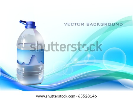 background with bottle of water