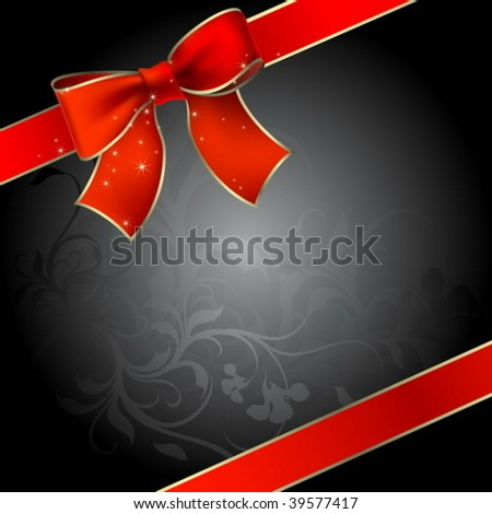 background with bow and ribbons