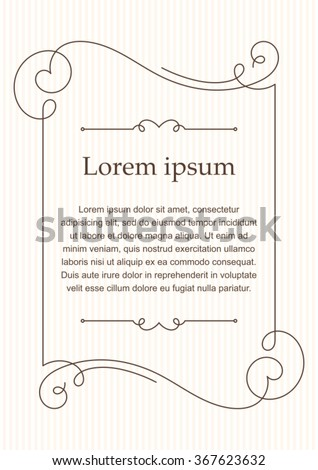 Background with calligraphic decorative elements. - stock vector