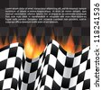 Background with checkered flag - stock vector