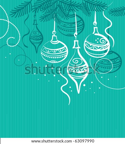 Background with christmas balls - stock vector