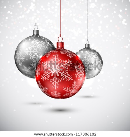 Background with Christmas balls. Eps 10 - stock vector