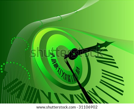 Background with clock