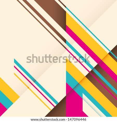 Background with colorful abstract elements. Vector illustration. - stock vector