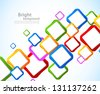 Background with colorful squares - stock vector