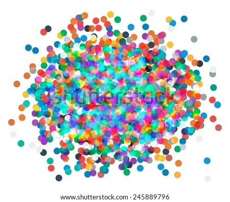 Background with confetti in red and green. colored confetti vector