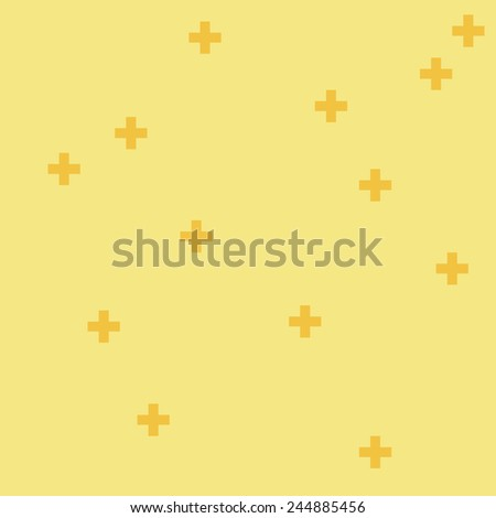 Background With Cross Icon Pattern, Vector.Colored Pattern with Plus. Vector Illustration - stock vector