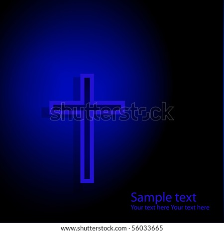 Background with cross. Vector illustration - stock vector