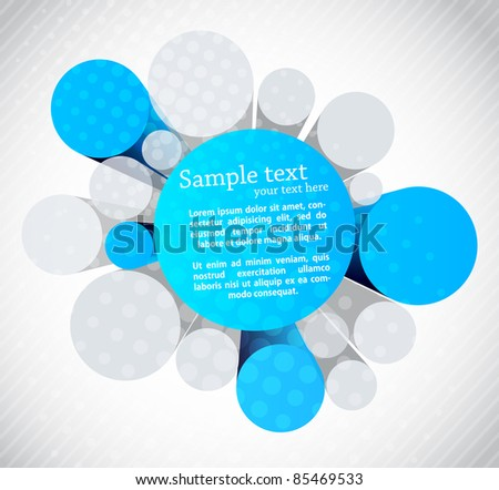 Background with 3d circles - stock vector