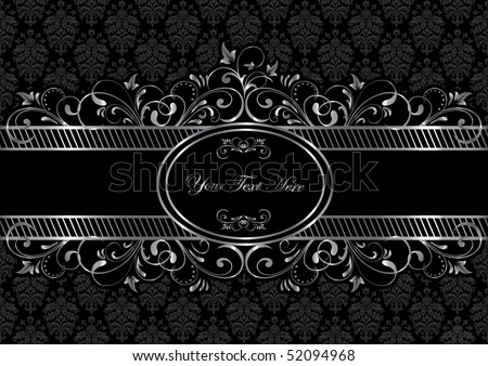 Background with decorative frame, illustration - stock vector