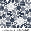 background with different stars - stock vector