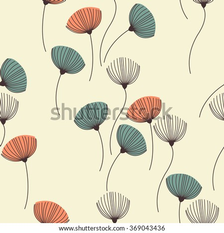 Background with dill. Seamless pattern with fennel. Seamless pattern can be used for wallpaper, pattern fills, web page background, surface textures.