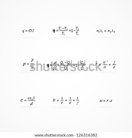 background with equations and formulas - stock vector