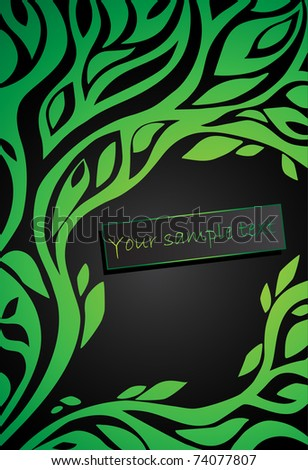 background with floral pattern - stock vector
