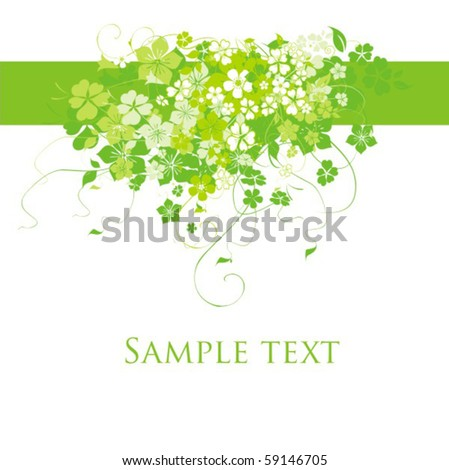 Background with flower - stock vector