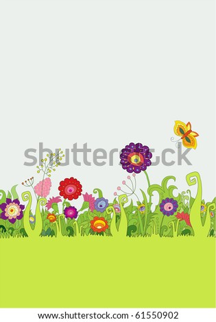 Background with flowers.