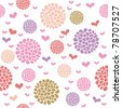 background with flowers in pastel colors, seamless - stock vector