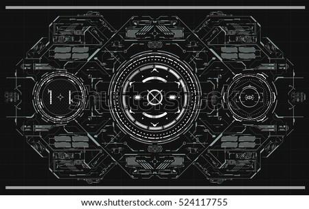 Background Futuristic User Interface Design Concept Stock Vector ...