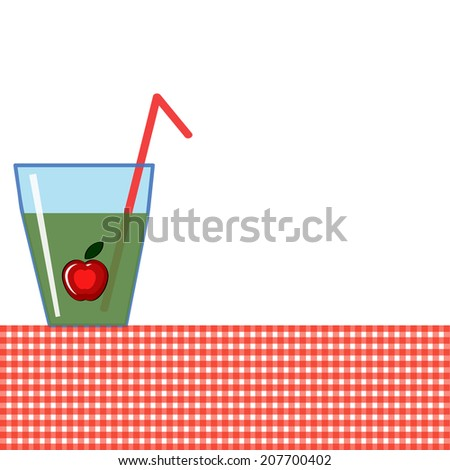 Background with glass of the juice - stock vector