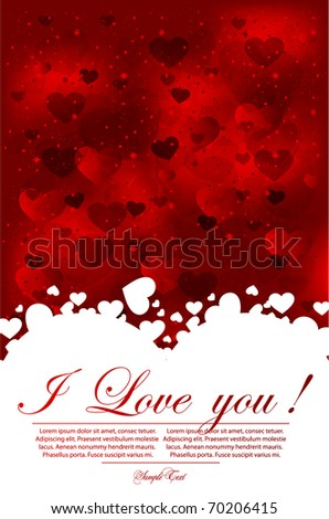 Background with  glittering hearts - stock vector