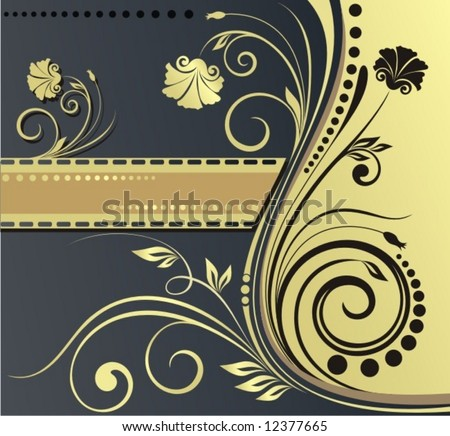 background with gold pattern - stock vector
