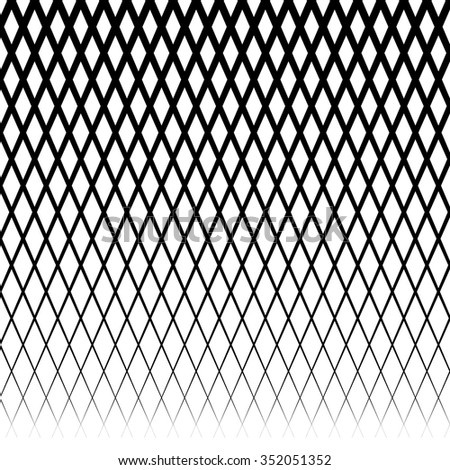 Background with gradient of diamond shaped grid - stock vector
