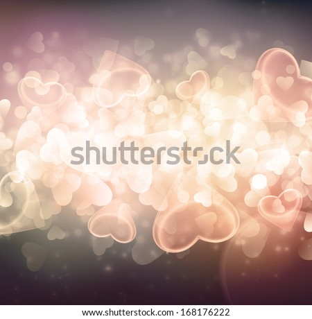 Background with hearts, eps 10 - stock vector
