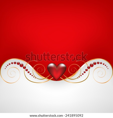 Background with jewelry frame for wedding or Valentines card - stock vector
