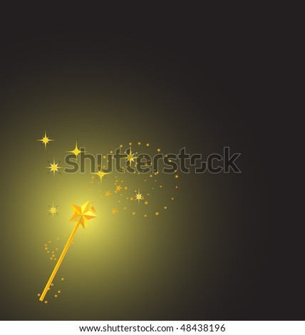 background with magic wand image