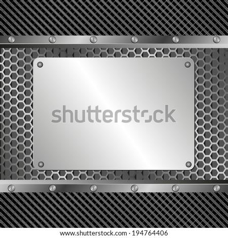 background  with metallic banner - stock vector