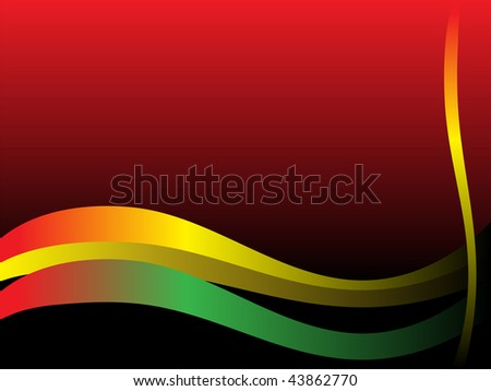 background with multicolored waves