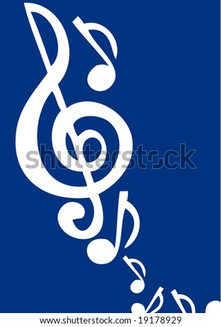 background with music notes - stock vector