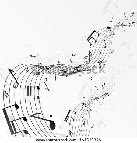 Background with music notes. eps10 - stock vector