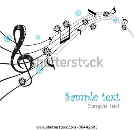 background with notes - stock vector