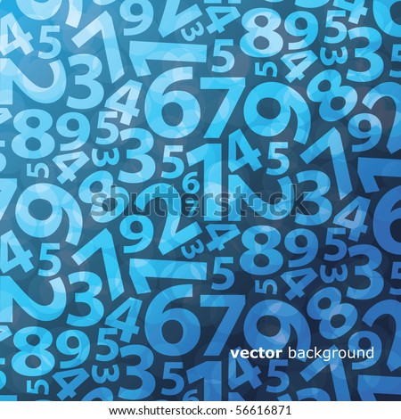 Background with numbers - stock vector