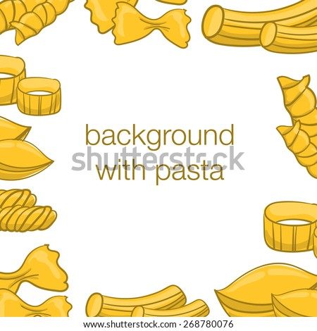 background with pasta - stock vector