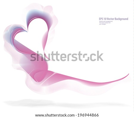 Background with pink heart - stock vector