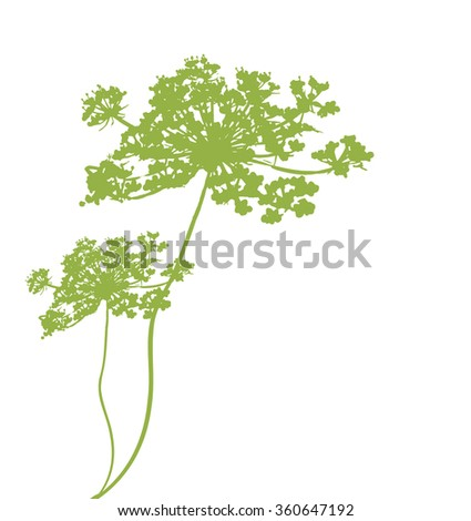background with plant green silhouette - stock vector