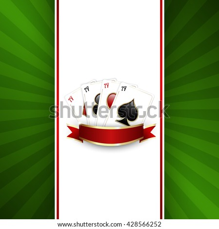 Background with playing cards for casino banner - stock vector