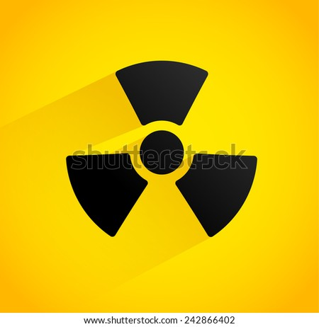 Background with radiation symbol (shadow with opacity mask, no blends, low filesize) - stock vector