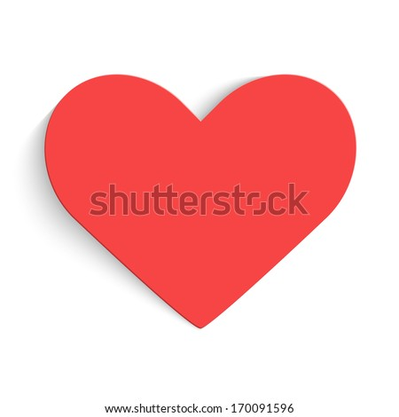 Background with red hearts. Vector illustration. - stock vector
