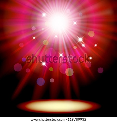 Background with red spotlight. Clipping Mask. Mesh.This file contains transparency. - stock vector