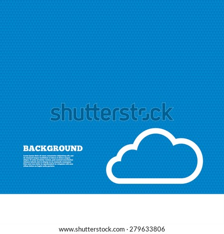 Background with seamless pattern. Cloud sign icon. Data storage symbol. Triangles texture. Vector