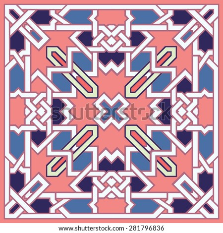 Ethnic Textile Design Vector Art Stock Vector 145745117 ...