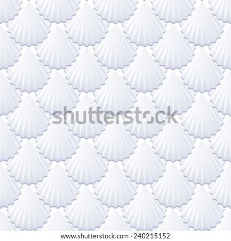 background with shells or tile pattern seamless - stock vector