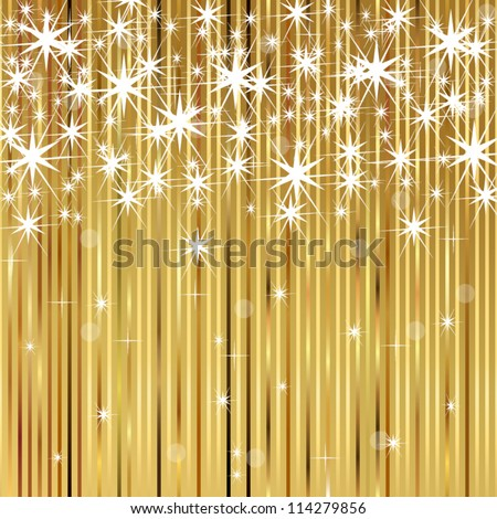 Background with shiny stars - stock vector