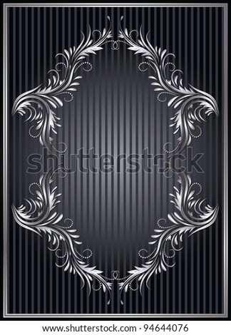 Background with silver ornament for various design artwork