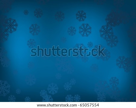 background with snowflakes. Holiday image - stock vector