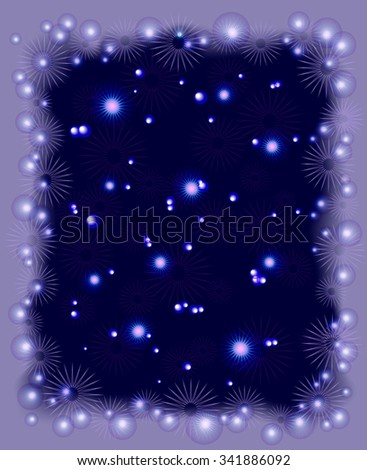 Background with snowflakes, stars and frost for Christmas. EPS10 vector illustration. - stock vector