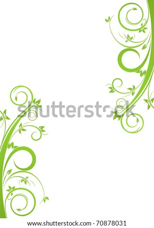 Background with spring floral design - stock vector